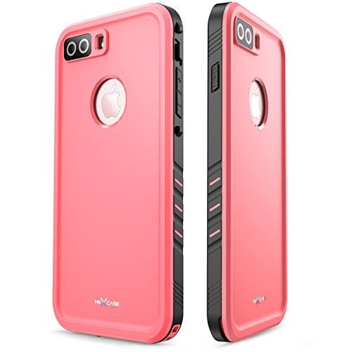 iPhone 7 Plus Case, NexCase Waterproof Full-body Rugged Case with Built-in Screen Protector for Apple iPhone 7 Plus 5.5 inch 2016 Release (Pink) by NexCase (Image #6)