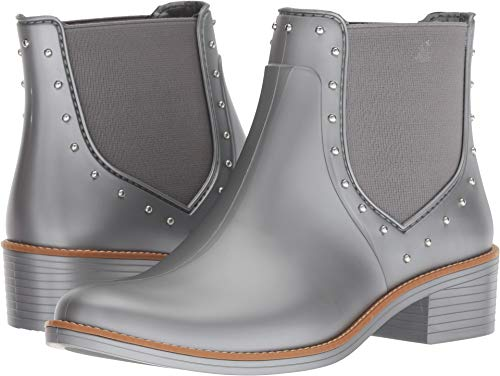 Bernardo Women's Peyton Rain Boots Pewter Rubber 7 M US M