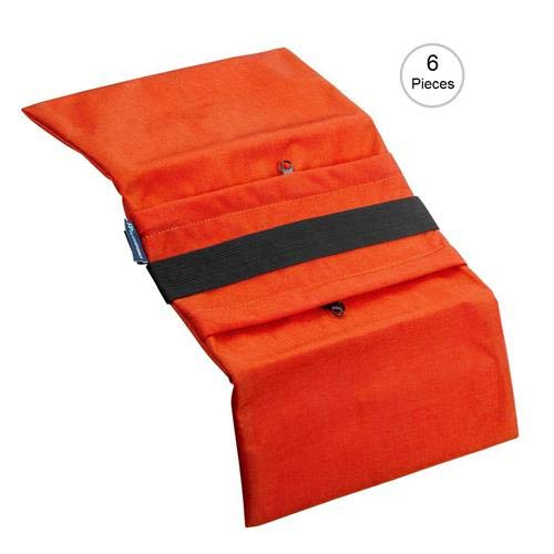 Flashpoint Empty Saddle Sandbag, Water-Resistant Cordura Nylon - (18 lb Capacity, Orange) (6 Pack)