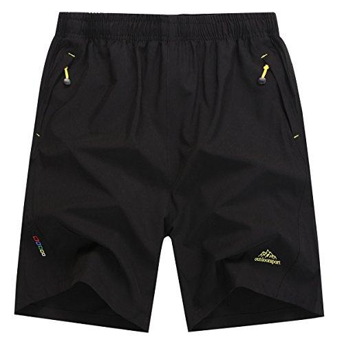 LOHASCASA Men's Elite Shorts for Gym Workout (Black,US Medium)
