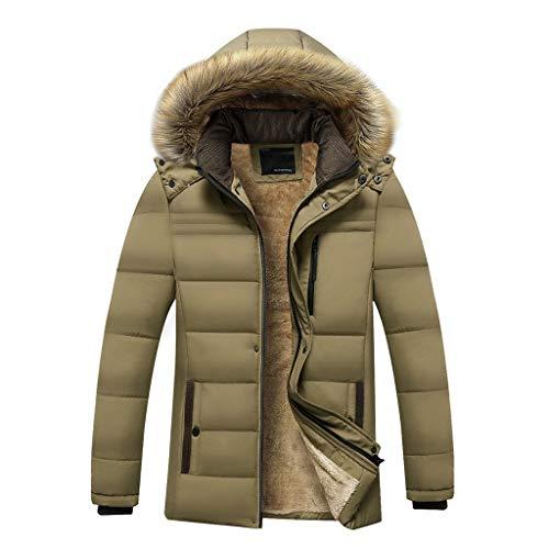 Au L'hiver Capuche Velours Manteau Loisirs Hommes Slim À Coupe Mode Les Garder Épaissir Kaki Tifiy Chaud Plus La xE0aI