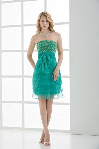 Grün Liebsten Tiered BRIDE Cocktail Kleid Chiffon kurzes Perlen GEORGE nqU8w5AxFw