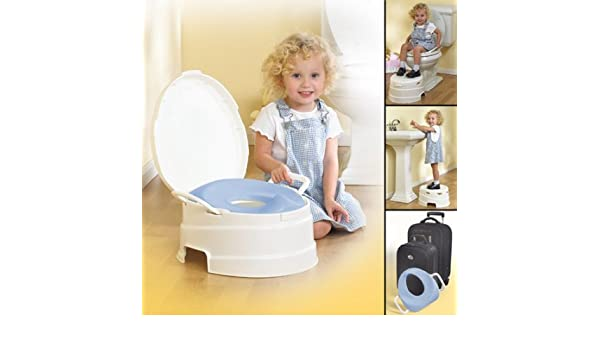 Magnificent Amazon Com Primo 4 In 1 Soft Toilet Trainer Step Stool Machost Co Dining Chair Design Ideas Machostcouk