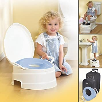 Phenomenal Amazon Com Primo 4 In 1 Soft Toilet Trainer Step Stool Machost Co Dining Chair Design Ideas Machostcouk