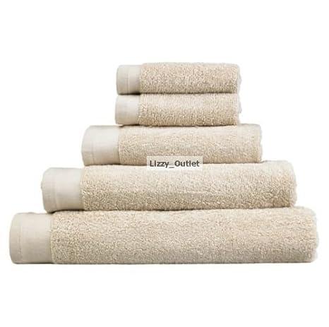 Juego de 5 100% juego de toallas de baño de algodón peinado bestdeal 500gsm por Lizzy: Amazon.es: Hogar