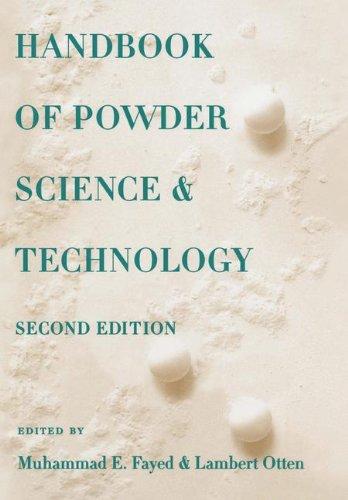 Handbook of Powder Science & Technology