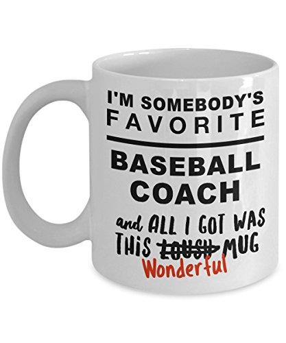 Baseball Coach Thank You Gift Mug, Great Desk Gag Gifts For Your Fav Coach, White Ceramic Coffee Cup Thank You Baseball Coach