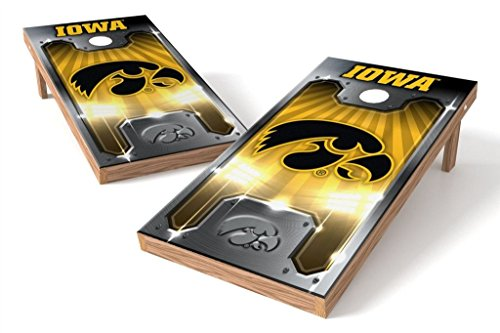 PROLINE NCAA College 2' x 4' Iowa Hawkeyes Cornhole Board Set - Plate Iowa Bean Bag