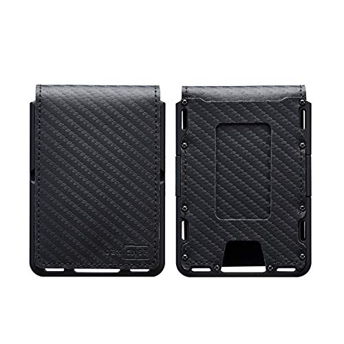 Dapper Leather Bifold Wallet EDC Wallet – JEXICASE Money Clip Wallet for Men – Minimalist Card Wallet for Men –RFID Blocking Card Holder Minimalist Bifold Wallet (Black)