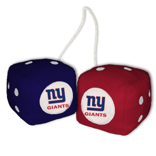 NFL New York Giants Fuzzy Dice,one red, one blue w/ - New York Malls Outlets