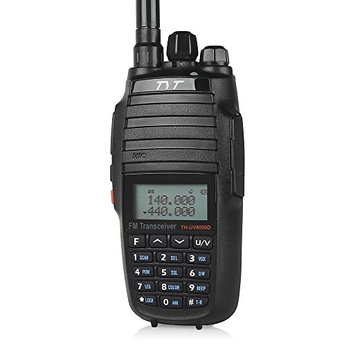 TYT TH-UV8000D Upgrade Dual Band Transceiver, Cross-band Repeater Two-way Radio, 10W 136-174/400-520MHz, with 7.2V 3600mAh battery and 2 antennas, Black ()