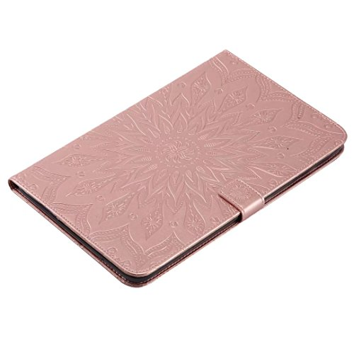 Samsung T561 9 6 Tap Wallet T560 Premium Case For with TPU Bumper Soft E PU inch Galaxy Inner 9 Protective Ougger for Flip Case E Leather Rose Gold Tap Blooming Purple Cover Samsung Slot 6