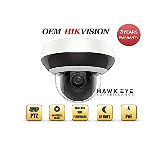 4MP PoE Mini PTZ Camera - Compatible with Hikvision DS-2DE2A404IW-DE3 Pan Tilt 2.8mm~12mm 4X Optical Zoom Indoor and Outdoor IR Audio Alarm in and Out H.265+