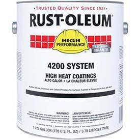 Rust-Oleum 4200/4300 System High Heat Coating, Metallic Aluminum Quart Sized Can - Lot of 2