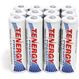 Combo:12 pcs of Tenergy Premium AA 2500mAh NiMH Rechargeable Batteries