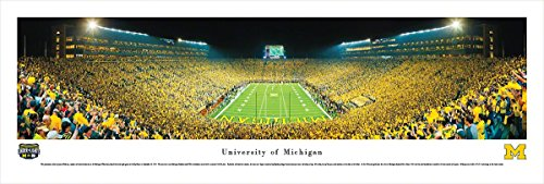 Michigan Football - Under The Lights - End Zone - Blakeway Panoramas Unframed College Sports Posters