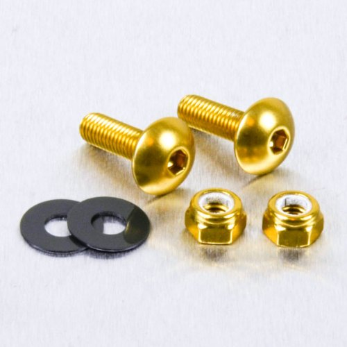 Aluminium Number Plate Kit Gold