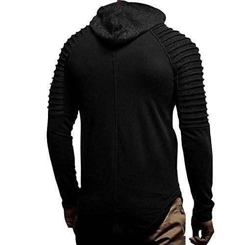 Quotidien Outerwear Sweat Décontracté Blouse Noir Veste Pure Tops Cordon Color Deelin Hiver Manches Automne Longues Zippé À Capuche Sport TxwtBEP