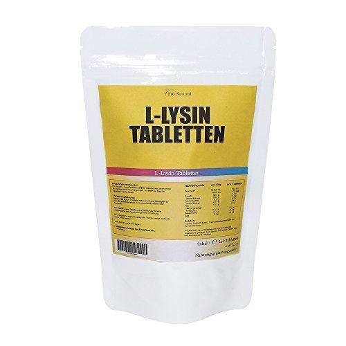 L-Lysin (250 Tabletten á 1000mg) - Hochdosiert Aminosäuren Amino Diät Vegan + Muskelaufbau : Pharmaqualität - nach ISO und GMP-Standard produziert - Preishammer