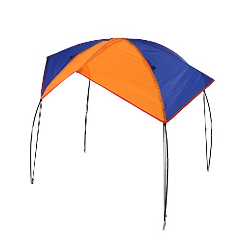 Boat Sun Shade Shelter, 2-4 Persons Quality Lightweight Folding Inflatables Boat Awning Top Cover Fishing Tent with D-Shape Buckles for Camping Fishing (4 Persons)