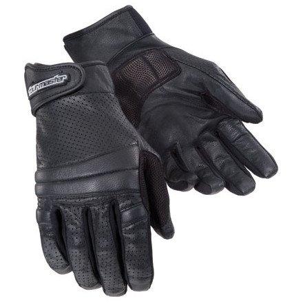 Tour Master Summer Elite 2 Men's Leather Sports Bike Motorcycle Gloves - Black / 3X-Large
