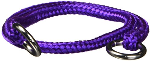 (Hamilton 3/16 Inch x 14 Inch Round Braided Choke Nylon Dog Collar, Purple (825 PU))