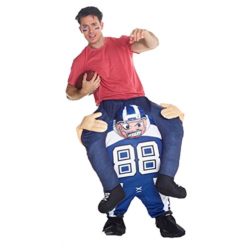Morph Unisex Piggy Back American Footballer Piggyback Costume - With Stuff Your Own Legs -