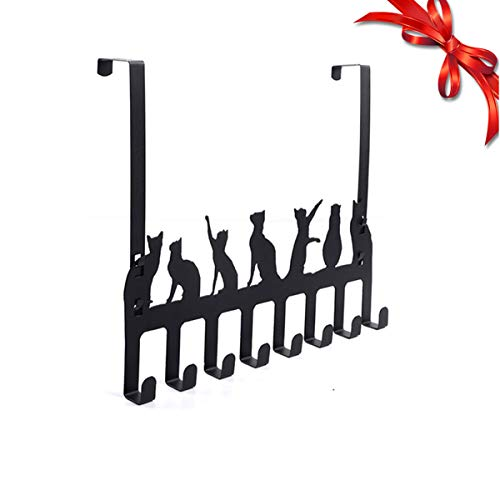 Wintek Over the Door Hook Hanger, Heavy Duty Organizer Rack for Towel, Coat , Bag - 8 Hooks, ()