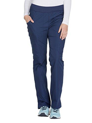 Cherokee Workwear Originals Women's Straight Leg Pull-On Scrub Pant Small Petite Navy ()
