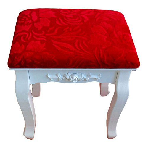 Stool Dana Carrie Green Salad Dressing Chair Fabrics Small Party of White Dressing Table Solid Wood Changing Shoes Bench, China Red
