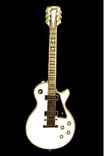 Les Paul Electric Guitar Pin - White