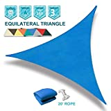Coarbor 16' x 16' x 16' Triangle Blue UV Block Sun