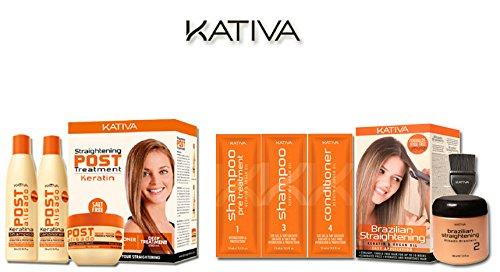 Kativa Keratina & Olio Argan allisciante brasiliano + Pack Post-trattamento 123