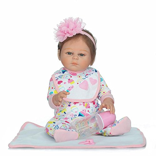 Funny House 20//50cm New Realistic Real Looking Reborn Baby Dolls Lifelike Soft Silicone Vinyl Realistic Newborn Doll With Hair Band Girl Child Growth Partner Free Magnet Pacifier For Xmas Gift RBB Dolls