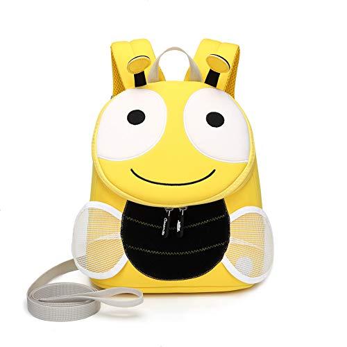 Eleanos Toddler Cat Backpack for Kindergarten Kids Waterproof Preschool Bag Cute Baby Bag with Ant-lost Leash Bee -