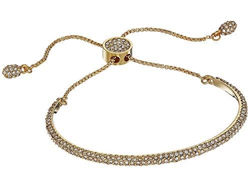 Vince Camuto Women's Crystal Pave Adjustable Slider Bracelet Gold One Size