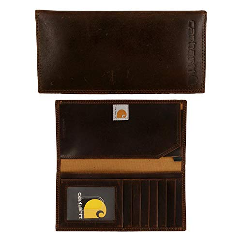Carhartt Men's Rodeo Wallet, oil tan brown One Size (Ducks Embroidered Leather)