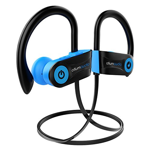 Bluetooth Headphones, Otium Audio Wireless Sports Earbuds, Waterproof IPX7 w/Mic, HD Stereo In-Ear Earphones, Case, Fast Pairing for Gym Running Workout, 7-9 Hrs Battery Noise Cancelling Headsets (Quality High Instrument Musical)