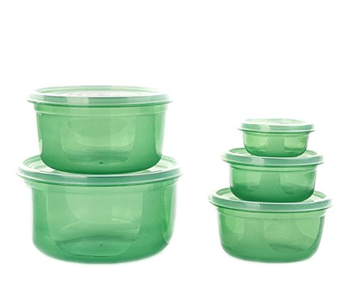 Ospard Plastic Food Storage Container Bento box For Refrigerator BPA Free Microwavable Dishwasher Safe WDBH-A30039 10 Piece Green (Freezing Anime Box Set compare prices)