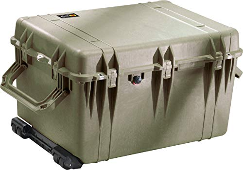 (Pelican 1660 OD Green Protective Case With Foam Watertight Hard Case)
