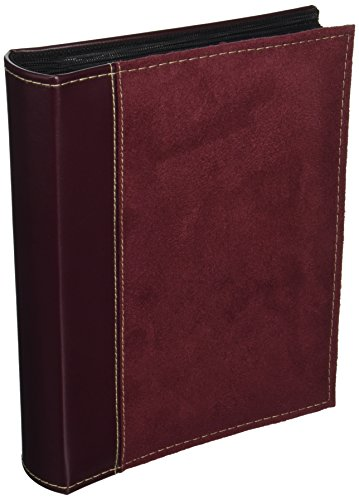 - Pioneer Photo Albums 208 Pocket Sewn Faux Suede and Leatherette Cover Album for 4 by 6-Inch Prints, Burgundy