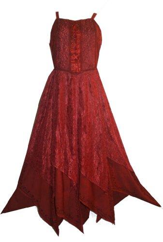 008 DR Lace Wedding Spaghetti Evening Gothic Dress [3X/4X; (Rennaisance Dress)