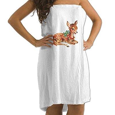 LXXYZ Christmas Deer Prints Bath Towel Wrap Womens Spa Shower Wrap Towels Swimming Shawl Bathrobe Cover Up Ladies