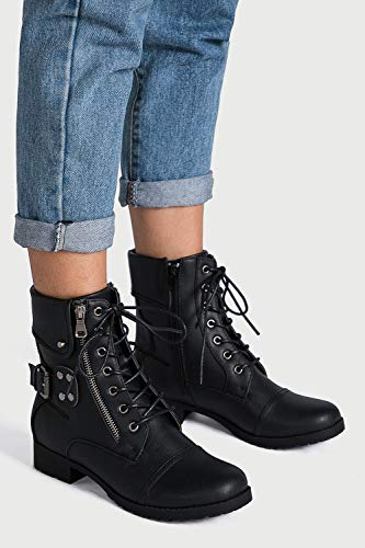 Globalwin Women's Strap in Fashion Boots - stylishcombatboots.com