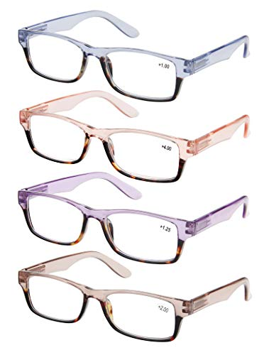 Reading Glasses Women 4 Pack Stylish Design Readers Great Value Quality Glasses for reading +1.5