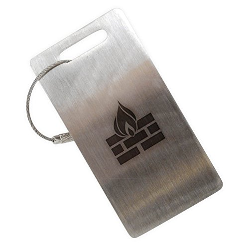 Price comparison product image Fireplace Stainless Steel Luggage Tag, Luggage Tag