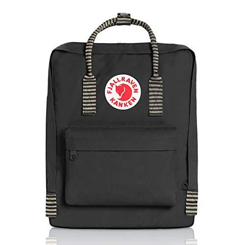 Fjallraven Men's Kanken Backpack, Black Stripe, One Size ()