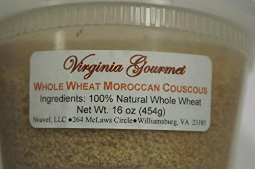 Virginia Gourmet Moroccan Couscous - 100% All Natural Semolina Durum Wheat- Authentic Moroccan Couscous-Cooks in 5 minutes (2Pack-10 oz each package) by Virginia Gourmet