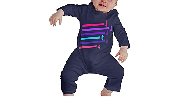 Mri-le1 Newborn Baby Jumpsuit Cyberpunk Neon Chess Pieces Infant Long Sleeve Romper Jumpsuit