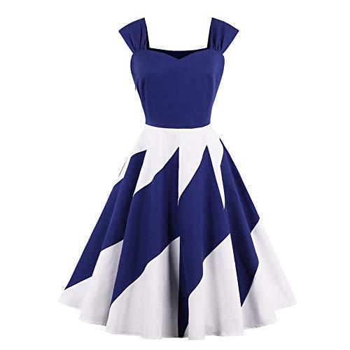 Vintage Dresses 1950s Rockabilly Sweetheart Neck Fit Flare Suspender Braces Skirt (S) ()